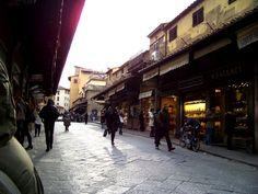 Ponte Vecchio, bridge of jewelry in Florence, Italy