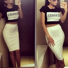 Now I see the need of a white or cream color leather skirt. Will be on my next list to get