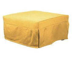 Pouf trasformabile in letto singolo Sing giallo - 80x45x80 cm