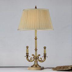 欧式田园台灯 复古典风格全铜灯饰 床头书房卧室客厅高端台灯奢华-淘宝网