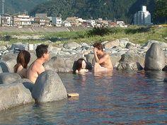 下呂温泉 飛騨川の河川敷 Japan Onsen, Spring Spa, Hot Springs, Pools, Anime Art, Relax, Nude, Japanese, Bath