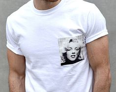 Marilyn Monroe Men's Pocket Tee