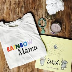 Rainbow Mama Hand Painted T-Shirt // Handmade // Women's