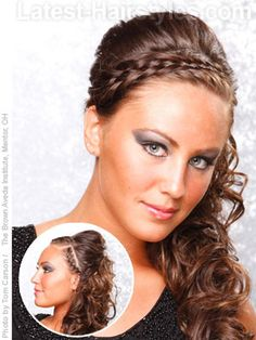 Side Curly hairstyle