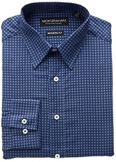 Nick Graham Men's Classic Fit Medallion Print Cotton Dress Shirt     #Easter #ForHim #ForHer #Holidays #GiftIdeas #Gifts #Affiliate