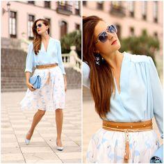 Get this look: http://lb.nu/look/7778602  More looks by Marianela Yanes: http://lb.nu/marilynscloset  #chic #classic #romantic http://marilynsclosetblog.blogspot.com.es/2015/09/flamingos-skirt.html