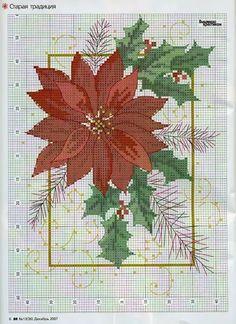 Xmas Cross Stitch, Cross Stitch Books, Cross Stitch Flowers, Cross Stitch Charts, Counted Cross Stitch Patterns, Cross Stitch Designs, Cross Stitching, Cross Stitch Embroidery, Embroidery Patterns