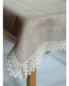 """Jacquard Off-White Polished Lace Tablecloth Table Topper 35/""""x35/"""" New"""