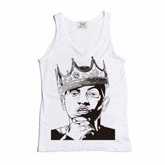 5d59f5728 Kendrick Lamar with the Crown White Tank by BabesnGents on Etsy // www.etsy