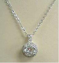 "20036-Laura 16"" w/2""extender  cubic zirconias  30478- Earrings"