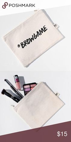 "Make up Bags! Next week Daily Makeup Pouch Gym Essentials Travel Passport and In Flight pouch Pens and Stationary for school  Sewing Kit Receipt and Money  As your wallet or clutch- put your phone, keys and cards and you're ready!  Size: 6.5"" x 8"". Machine Washable. Bags Cosmetic Bags & Cases"