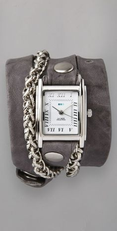 La Mer Collections Silver Motor Chain Wrap Watch | SHOPBOP