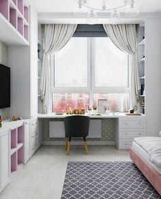 Herkese merhaba🌸 Çocuk odasi dekoruyla alakali fikir istiyordunuz😊 Kiz ç. Small Room Bedroom, Home Decor Bedroom, Kids Bedroom, Kids Room Design, Home Office Design, House Design, Study Room Decor, Girl Bedroom Designs, Dream Rooms