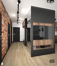 Projekt mieszkania w Czeladzi - Hol / przedpokój, styl nowoczesny - zdjęcie od…