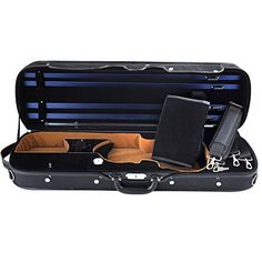 ADM Professional Sturdy Violin Case Full Size Oblong Wooden Hard For