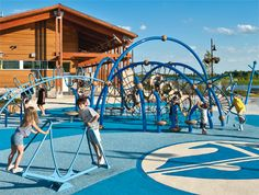 Evos™ playsystems bring a whole new dimension to your commercial playground during outdoor play!