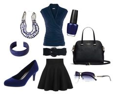 Professional Navy by ohsosara64 on Polyvore featuring polyvore, fashion, style, H&M, Anais Gvani, Mixit, NOVICA, Wet Seal, OPI and clothing