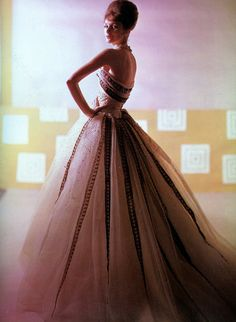 A  Pierre Balmain evening gown from early 60's.