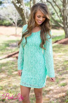 Only In Your Dreams Mint Lace Dress