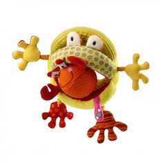 This Romeo Handle Rattle by Lilliputiens is perfect!