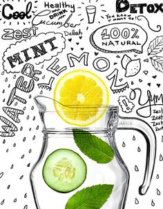 This magical lemon, cucumber and mint mix fused overnight creates a natural detox drink Ingredients: 1 lemon, cucumber, 10 mint leaves, 1 litre water. Leave in fridge over night. Detox Tips, Detox Recipes, Healthy Detox, Healthy Drinks, Healthy Water, Healthy Snacks, Healthy Recipes, Cucumber Detox Water, Natural Detox Drinks