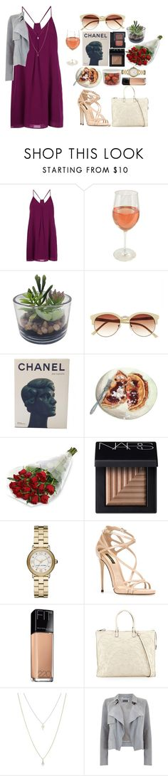 """""""Look by:Melanie"""" by melanie-pacheco ❤ liked on Polyvore featuring Alice + Olivia, Threshold, Vince Camuto, Chanel, NARS Cosmetics, Marc Jacobs, Dolce&Gabbana, Maybelline, Valentino and ASOS"""