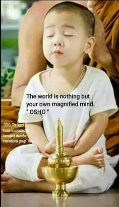 The world is nothing but your own magnified mind... Osho