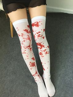 Over Knee High Socks,Polka Dots in Different Sizes Galaxy Inspired Design Cosmic Universe Celestial,60CM