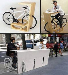 Clever design for bicycle owners!