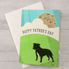 Staffy Father's Day Card