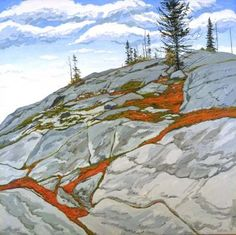 Neil Welliver, Blueberries in Fissures, 1983, oil on canvas, 96 x 96 inches
