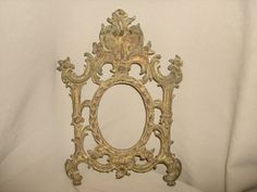 Antique Victorian Gilt Cast Iron OVAL by PastPossessionsOnly, $39.95