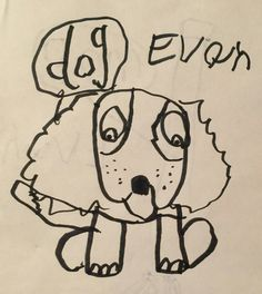 Dog - Permanent Marker drawing by EB Lent age ?