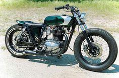 Kawasaki tr250 bobber brat  #motorcycles #motos   caferacerpasion.com