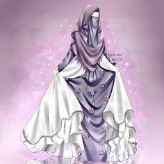 Cute Cartoon Girl, Cartoon Art, Islamic Girl Pic, Anime Korea, Islamic Cartoon, Hijab Cartoon, Cute Couple Art, Girly Drawings, Queen Art