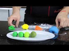 Como colorir Pasta Americana vermelha e Tons de Verde - YouTube