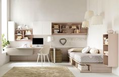 Kinderzimmer im puristischen Stl mit Ahorn Möbeln