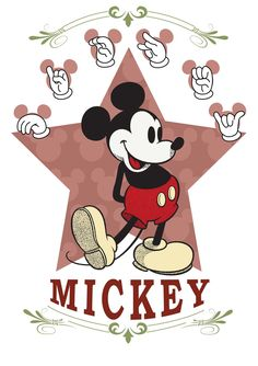 "Spelling ""MICKEY"" in sign language...neat!"