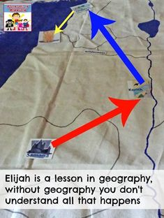 Elijah is a lesson in geography and how it's important to know where things happen otherwise you miss part of the story