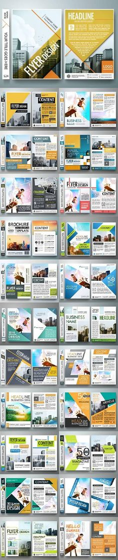 Brochure flyer template design
