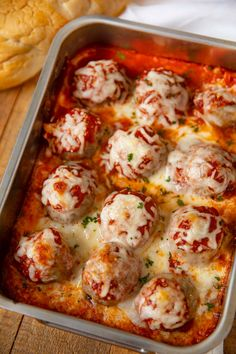 Cheesy Meatball Casserole with homemade meatballs and covered with melted mozzarella cheese. Perfect on its own, with noodles or in subs! Cheesy Meatball Casserole are unbelievably easy to make.A recipe Lanjut Baca. Side Dishes Easy, Side Dish Recipes, Meat Recipes, Pasta Recipes, Chicken Recipes, Dinner Recipes, Cooking Recipes, Healthy Recipes, Barbecue Recipes