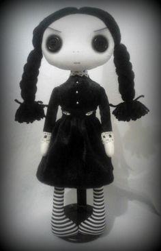 Gothic Art Rag Doll