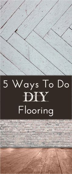 Here are some ideas of ways that you can do your own flooring a little easier and cheaper: 1. Plywood Sheeting – This technique involves cutting plywood into strips and then gluing and laying them down. Then stain them in the color you want. You can see a great example …