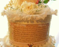 Vintage Script Love Letter Wedding Card Box by avintagebride, $177.50