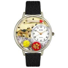 German Shepherd Watch in Silver (Large)