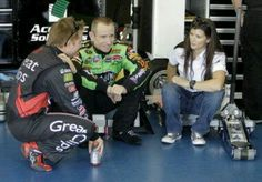 6/13/13 Danica & her friends mourning the loss of racer & friend Jason Leffler.