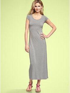 T-Shirt Maxi Dress (Gray). Gap. $59.95