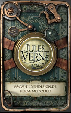 Jules Verne - Steampunk cover by ~MaxMade on deviantART
