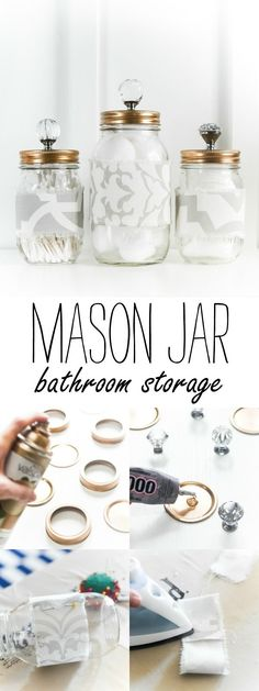 96 Best bathroom Mason jars images in 2015 | Jars, Mason Jar Crafts