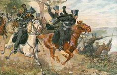 Hussars of the Freicorps von Luetzow - the black brigands.